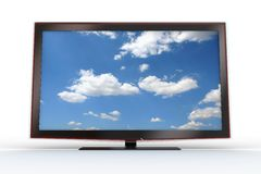 Front of a stylish LCD TV Royalty Free Stock Photos