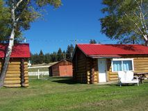 Front of summer cabin. Nice place to be, sitting in front of the cabin, sunning Stock Photos