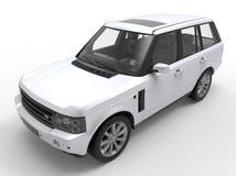 Front SUV car illustration Royalty Free Stock Photo
