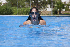 Front swimming breaststroke Royalty Free Stock Photo