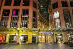 Front of Sydney Arcade shopping center taken at night in Australia Royalty Free Stock Image