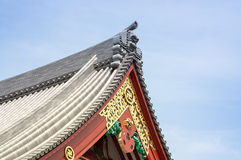 Front of the temple. Royalty Free Stock Photography