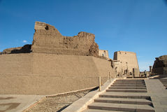The front of the Temple of Edfu Stock Images