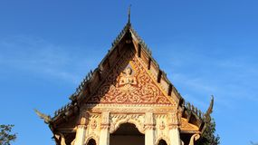 Front of temple roof art and culture Royalty Free Stock Photography