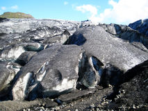 Front or Terminus of a glacier in Iceland. Terminal of the Myrdalsjokull Glacier (Southern Iceland stock image