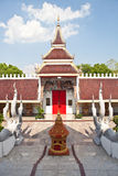 Front of thai tample with blue sky Royalty Free Stock Images