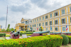 Front of Thailand Ministry of Defence building. Royalty Free Stock Photo