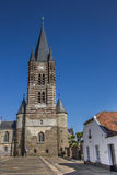 Front of the Thorn abbey in Limburg Stock Image