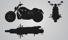 Front, top and side chopper projection. Stock Images