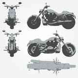 Front, top and side chopper projection Royalty Free Stock Image