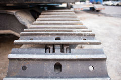 The front of Tracked excavators Royalty Free Stock Photos