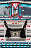 Front of a traditional decrated truck in Abhaneri