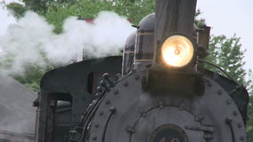 Front of a train sitting at the station (2 of 2). A view or scene of Transportion stock footage