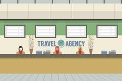 Front Of Travel Agency Counter Fotos de archivo