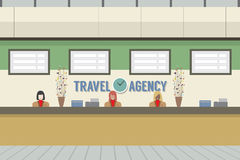 Front Of Travel Agency Counter. Stock Photos
