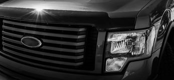 Front Truck Grill avec des phares Photo stock