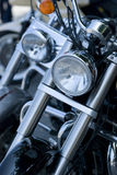 Front of two motorbikes Stock Image