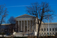 Front of the U.S. Supreme Court Royalty Free Stock Photos