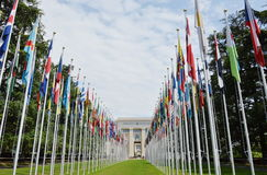Front of the united nations office at Geneva Royalty Free Stock Photos