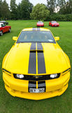 Front and up view of Ford Mustang model 2005 Royalty Free Stock Photo