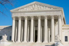The front of the US Supreme Court. In Washington, DC Royalty Free Stock Photography