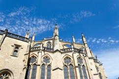 Front van een kerk Stock Foto's