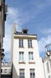 Front van een wit gebouw Royalty-vrije Stock Afbeelding
