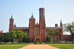 Smithsonian Castle in Washington DC, USA royalty free stock image