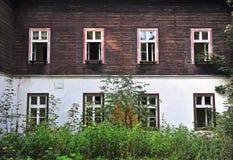 Front view of abandoned house. In Korytnica Kupele village, Slovakia stock images