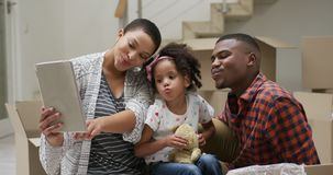 Family enjoying free time at home