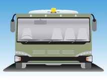 Front view  Airport bus Stock Images