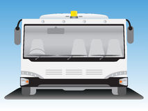 Front view  Airport bus Royalty Free Stock Image