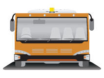 Front view  Airport bus Royalty Free Stock Images