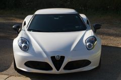 Front view of Alfa Romeo 4c royalty free stock photography
