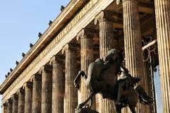 Front view of the Altes Museum. The Altes Museum, is one of several internationally renowned museums on Museum Island in Berlin, Germany stock image