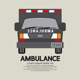 Front View Of Ambulance. Royalty Free Stock Photo