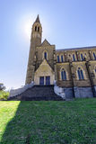 Front view of an ancient cathedral/church. Historical Sacred Heart Cathedral at Bendigo. One of the best tourist destinations in the city of Bendigo. The front Royalty Free Stock Photo