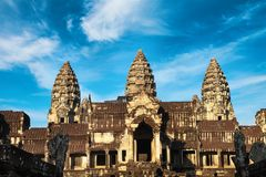 Front view of Angkor wat temple in Cambodia Stock Photography