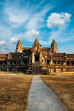 Front view of Angkor wat temple in Cambodia Stock Photo