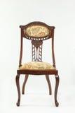 Front view antique Art Nouveau mahogany chair Stock Photos