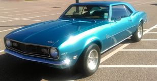 Chevy Camaro Royal blue Royalty Free Stock Images