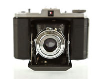 Front View of Antique Folding Medium Format Camera Royalty Free Stock Photo