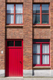 Front view of Apartment Building in Bruges Stock Images