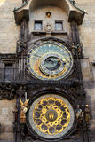 Front view of the astronomical clock Royalty Free Stock Images