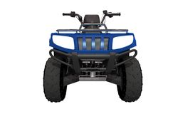 Front View ATV Quad Bike. Illustration. ATV Isolated on White Solid Background Royalty Free Stock Images