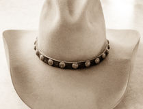 Front View av cowboyen Hat Royaltyfria Bilder