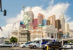Front View av det nya York-nya York hotellet och kasinot i Las Vega Arkivbild
