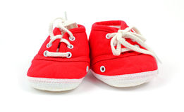 Front View Baby High Top Sneakers Royalty Free Stock Photo