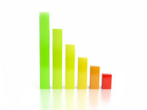 Front view of bar chart stock photo