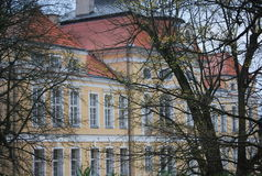 The front view of Baroque palace in Rogalin, Poland Stock Photography